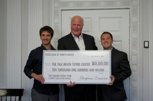 2014 check presentation to the Yale Brain Tumor Center